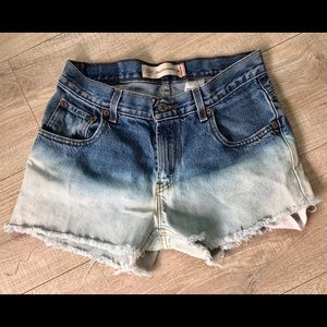 Free People dip dye Levis cut off shorts 27 28 29